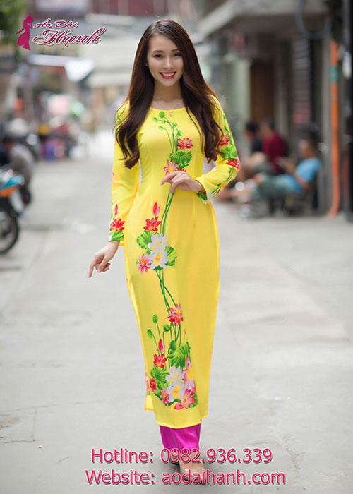 Áo dài nhiều họa tiết đẹp