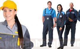 May đồng phục công nhân