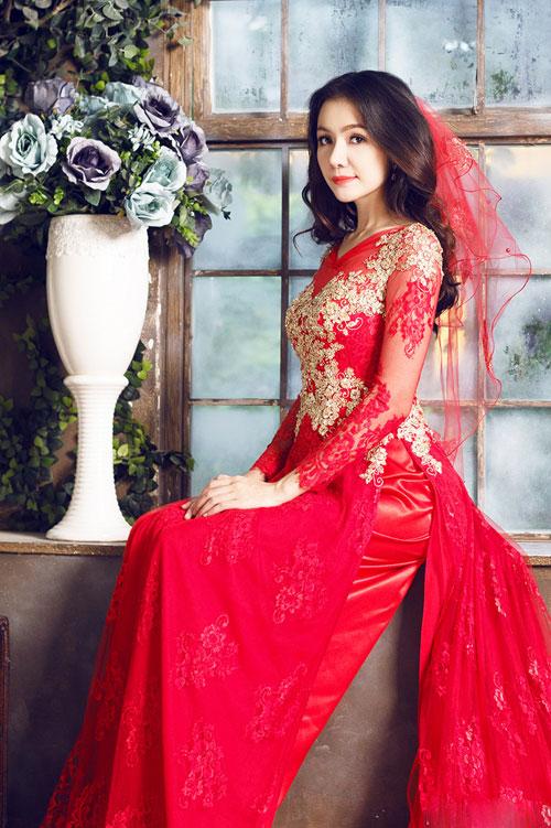 Dịch vụ may áo dài cưới đẹp cho cô dâu