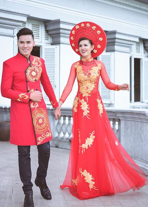 Dịch vụ may áo dài cưới đẹp 03