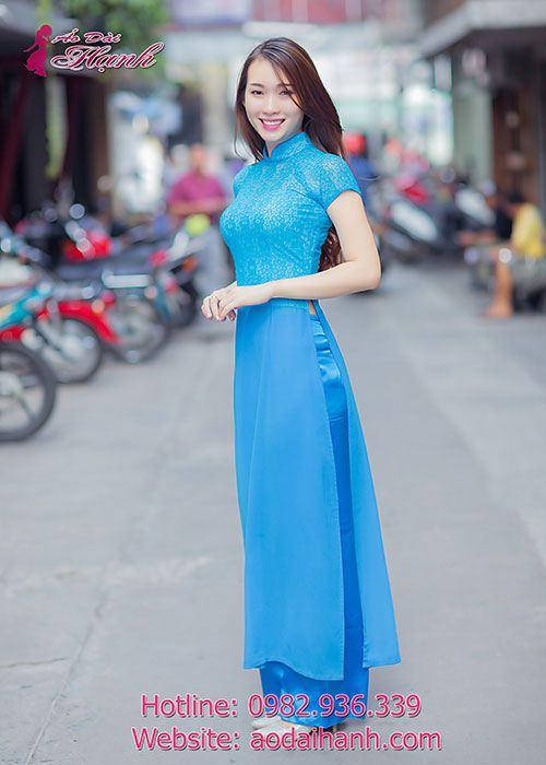 Áo dài xanh mát mẻ
