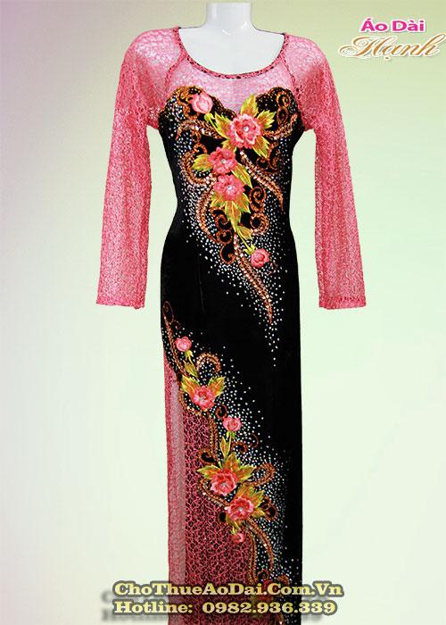 Vải áo dài trung niên cho mẹ cô dâu chú rể 03